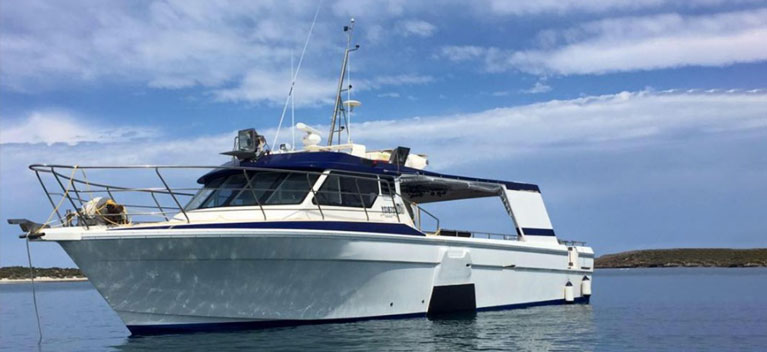 Commercial fishing charter boat