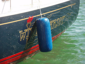 Boat with fibreglass hull